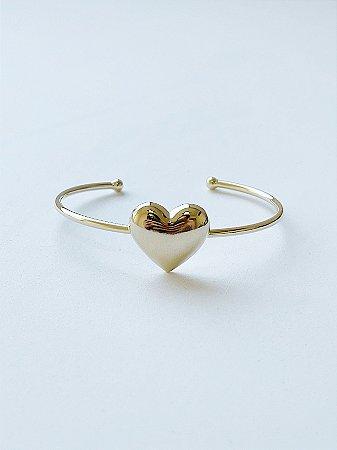 Bracelete Coração - SEMIJOIA