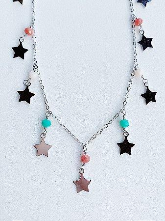 Colar Estrela Semijoia