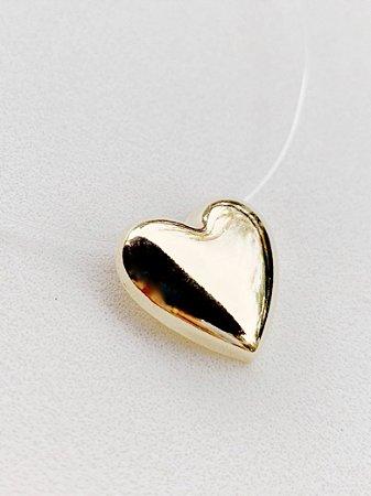Colar Invisível Coração Semijoia