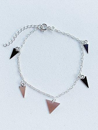 Pulseira Triângulo Prata