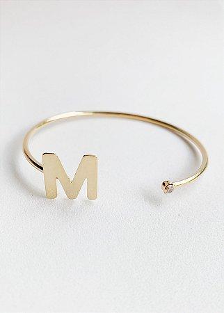 Bracelete Letra Semijoia