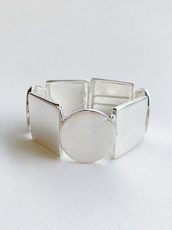 Bracelete Geométrico Banho de Prata