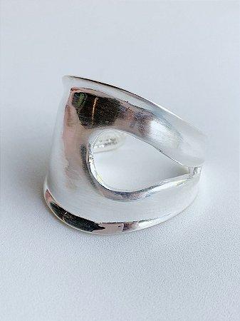 Bracelete Vazado Banho de Prata