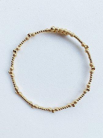 Bracelete Bolinhas Semijoia