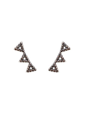 Brinco Triângulos de Prata