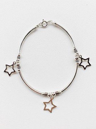 Pulseira Estrela de Prata