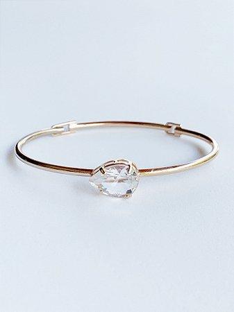 Bracelete Gota Cristal Semijoia