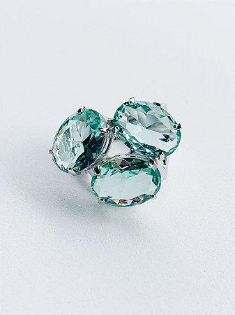 Anel Três Pedras Semijoia