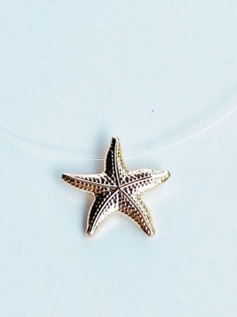 Colar Invisível Estrela do Mar Semijoia
