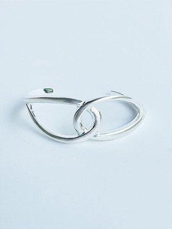 Bracelete Entrelaçado Banho de Prata