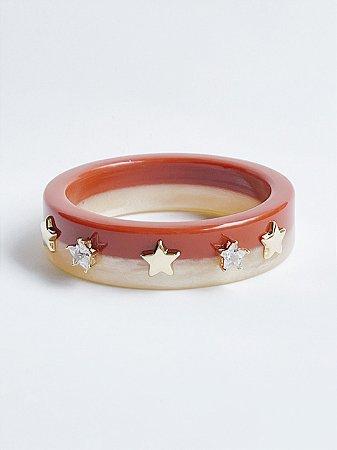 Bracelete Estrela Resina