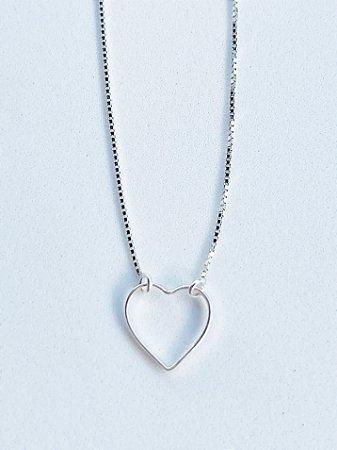 Choker Coração de Prata