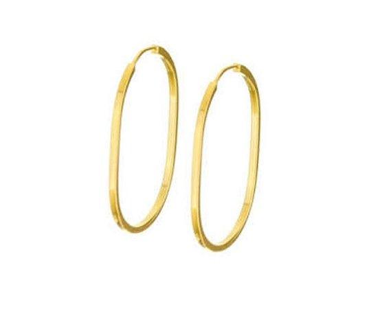 Brinco  Grande Oval Ouro18k