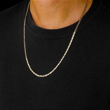 Corrente Piastrine Ouro18k 60cm