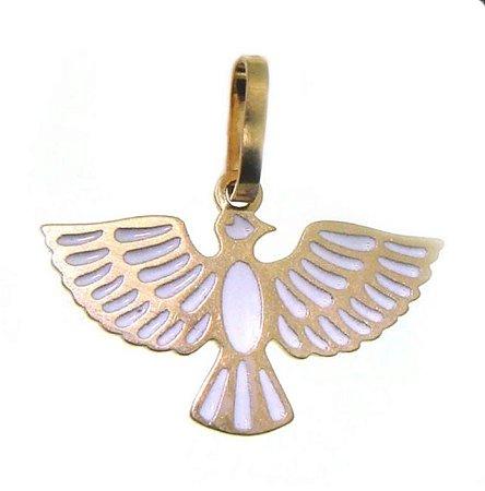 Pingente ouro 18k Espírito santo com resina