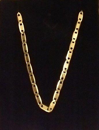Corrente Piastrine Ouro 18k 70 cm