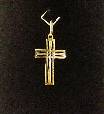 Pingente Cruz Ouro 18k