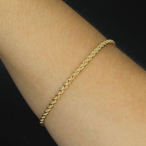 Pulseira Corda Ouro 18K 18,5cm