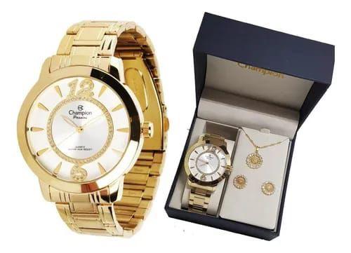 Relógio Champion Feminino Dourado Passion Ch24268D