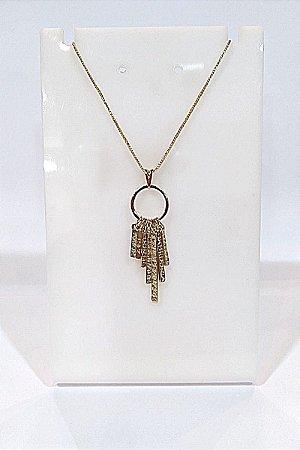 Gargantilha Folheada a ouro 18k, modelo desejos. 45 cm