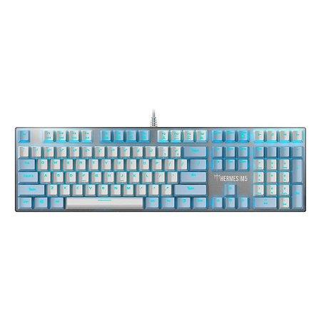 Teclado Mecânico Gamer Gamdias Ice Hermes M5 WB (US/BLUE)