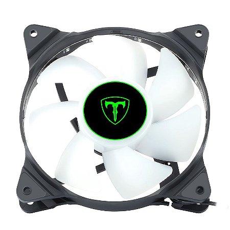 Cooler Fan Led Branco 120x120x25 12cm T-Dagger T-TGF300-W