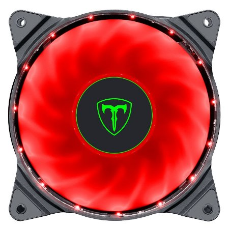 Cooler Fan Led Vermelho 120x120x25 12cm T-Dagger T-TGF300-R