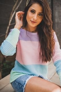Blusa de tricô candy color