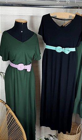 Vestido de malha decote V