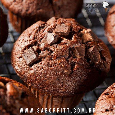 Muffin de Chocolate Recheado com Gotas de Chocolate 70% - ( 1und ) 70 gramas