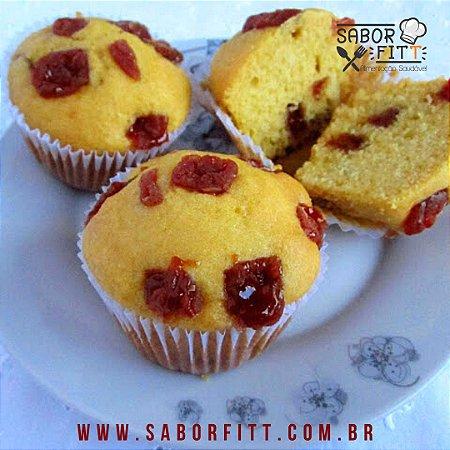 Muffin Tradicional Recheado com Gotas de Goiabada - ( 1und ) 70 gramas