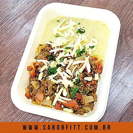 Carne Maluca Moída + Purê de Batata Doce + Queijo Mussarela (300 Gramas)