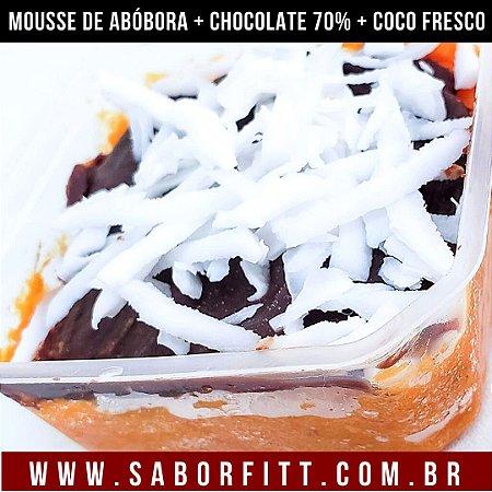 Mousse de Abóbora + Chocolate 70% + Coco Fresco