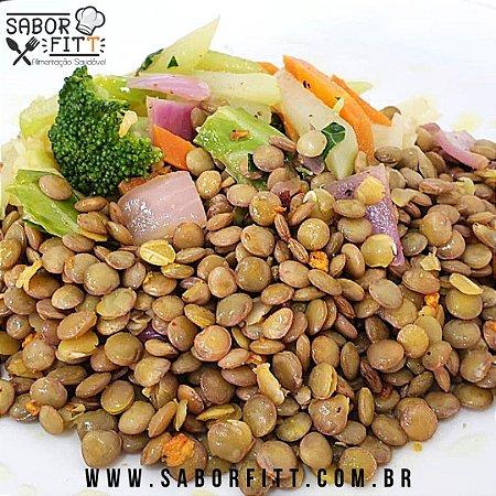 Lentinha Refogado no Azeite e Alho, com Vegetais Salteados (250 Gramas)