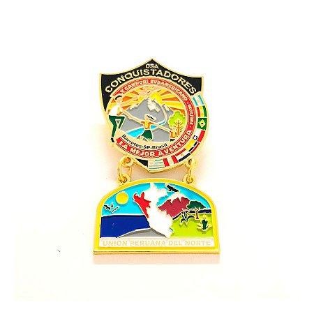 Pin, DSA com Brasão em metal da Unión Peruana Del Norte
