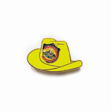 Pin, DSA 2019, chapéu, Amarelo, Desbravador