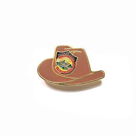 Pin, DSA 2019, chapéu, Marrom, Desbravador