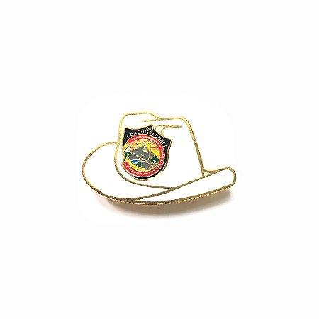 Pin, DSA 2019, chapéu, Branco, Conquistador