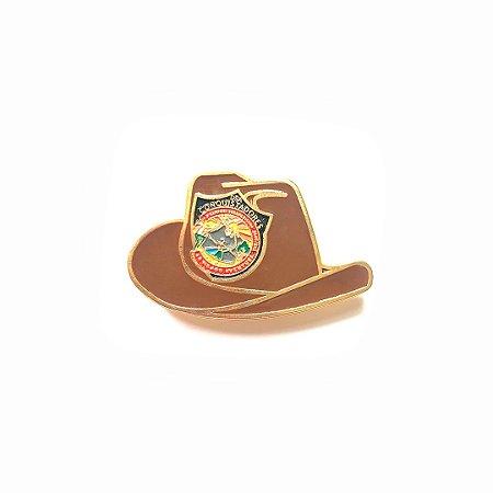 Pin, DSA 2019, chapéu, Marrom, Conquistador