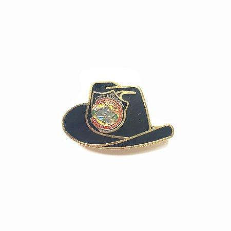Pin, DSA 2019, chapéu, Preto, Conquistador