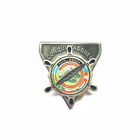 Pin DSA 2019, Bússola, alfa-omega, conquitadores
