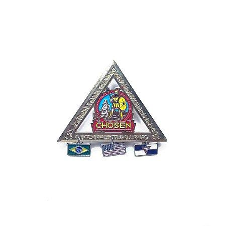 Pin, Chosen, Triangulo com três pingentes