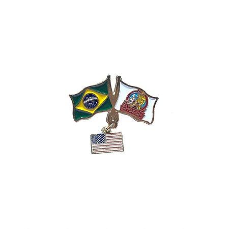 Pin chosen, Bandeiras com pingente