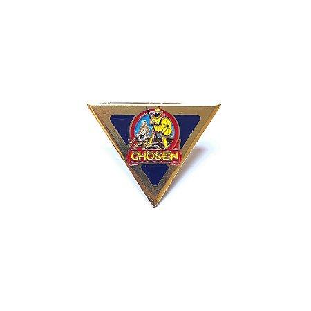 Pin Chosen, Triangulo, fundo nas corres das classes