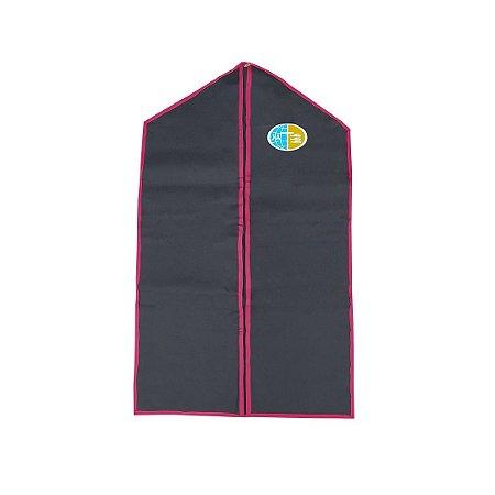 Porta Uniformes, Preto com bordas vermelhas, emblema JA