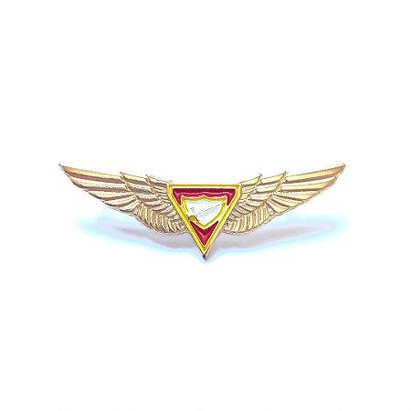 Pin, Logo D3, com contorno amarelo e com asas