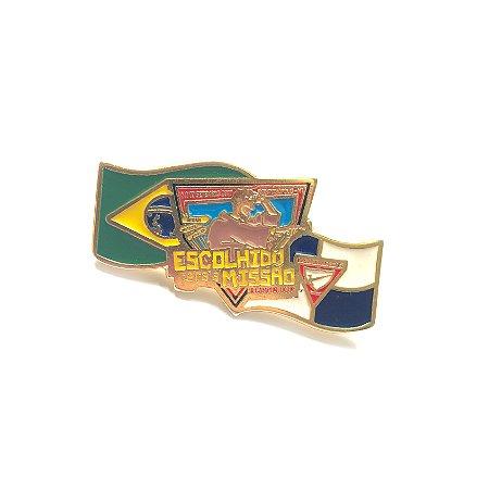 Pin, Escolhido para a Missão, Bandeiras, Brasil e EUA