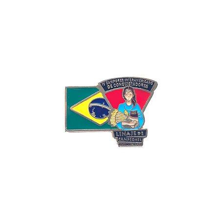 Pin, Linaje de Campeones, bandeira do Brasil