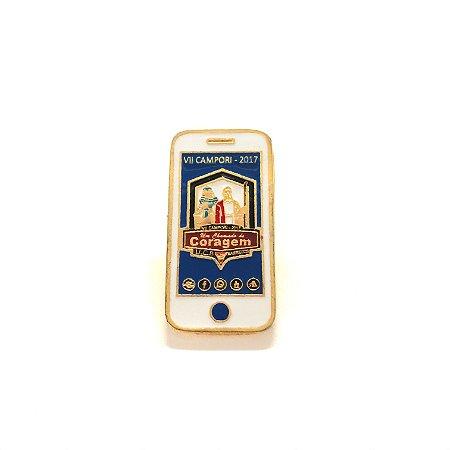 Pin, Um Chamado de Coragem, celular, fundo Azul escuro