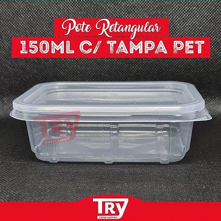 Pote Retangular C/tampa 150ml Freezer/microondas C/60 Unid.